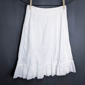 J Crew Womens Skirt 0P 0 Petite White Cotton ✔